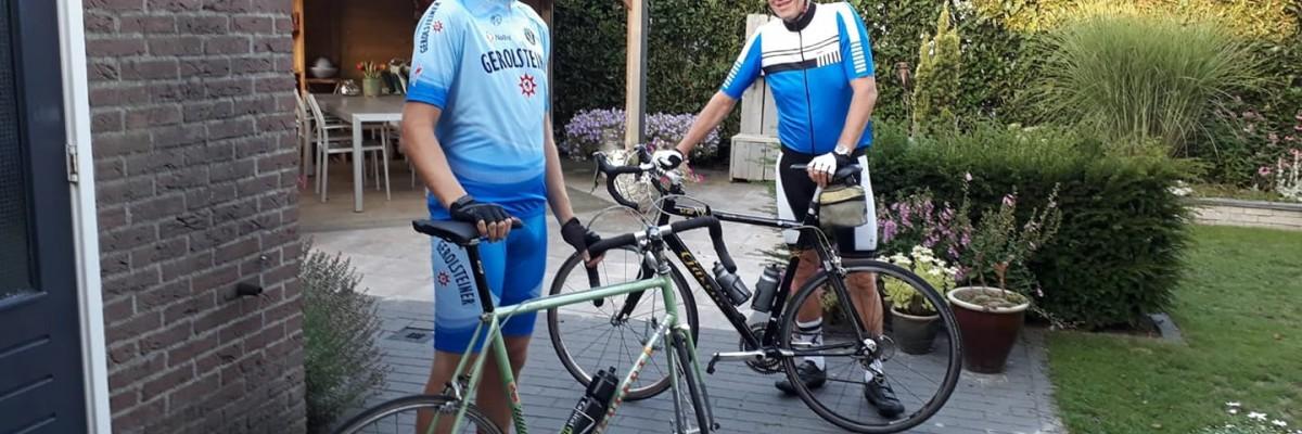Fietstocht 150 km - Bernand en Wim - 6 juni